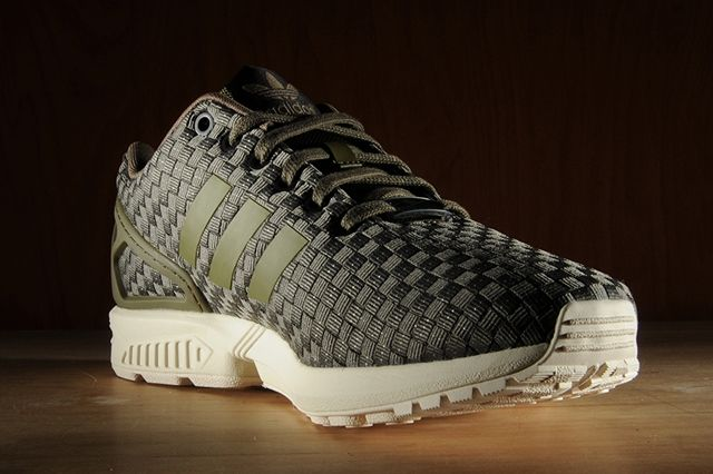 Adidas Zx Flux Reflective Weave Olive 5