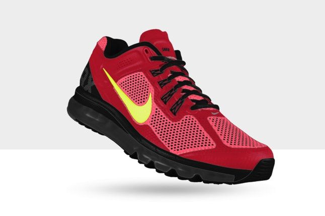 Nikeid Air Max Red Yellow Pink 1