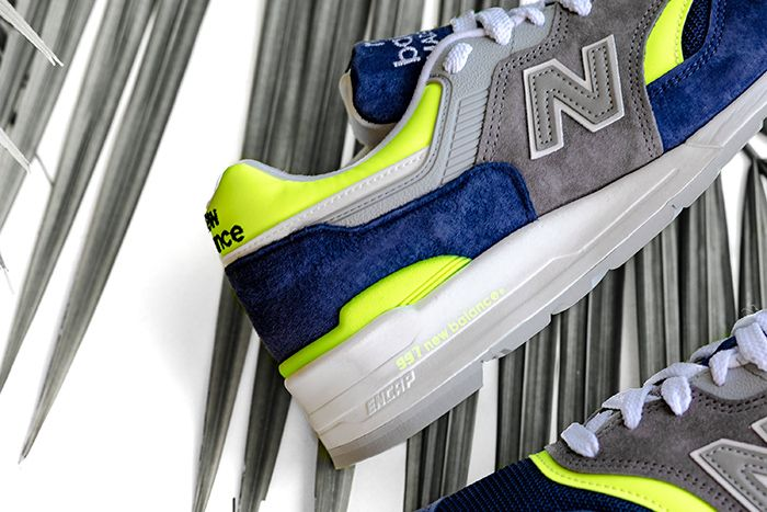 New Balance 997 Blue Yellow M997Lbl Release Date Lateral Closeup