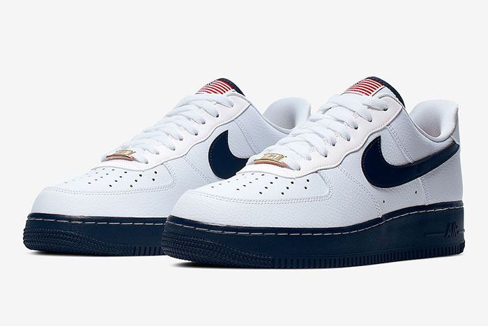 Nike Air Force 1 Usa Flag Ck5718 100 Front Angle