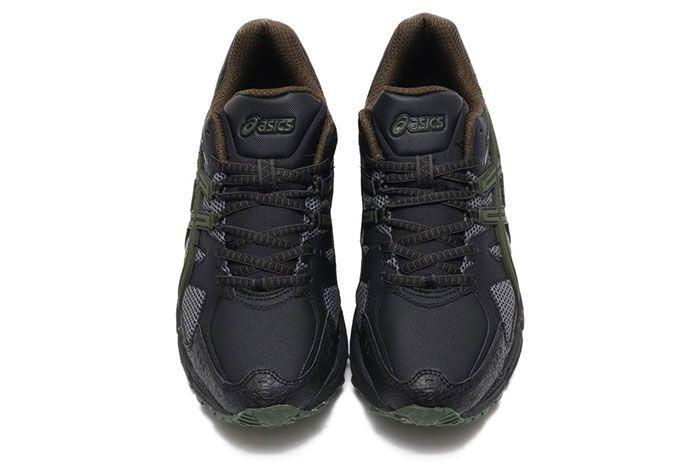 Asics Gel Snowride Black Olive Release 3 Top