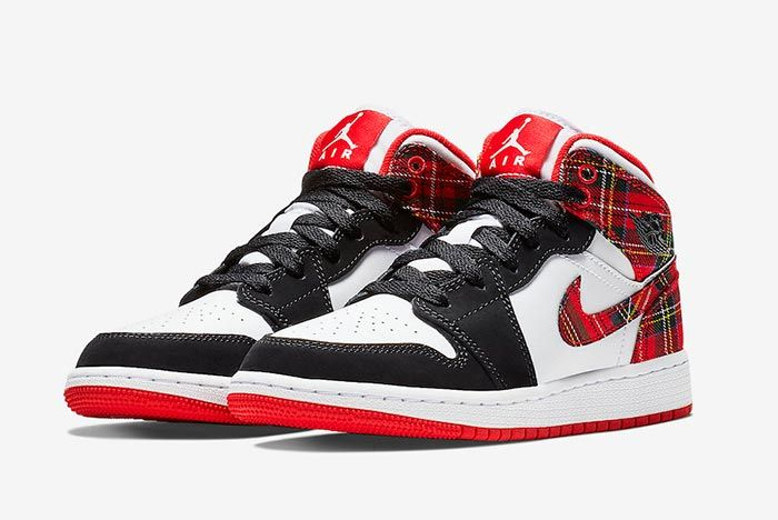 Air Jordan 1 Mid Plaid 1
