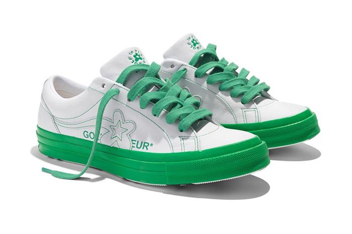 Converse One Star Golf Le Fleur Colorblock Pack White Green Release Date Pair