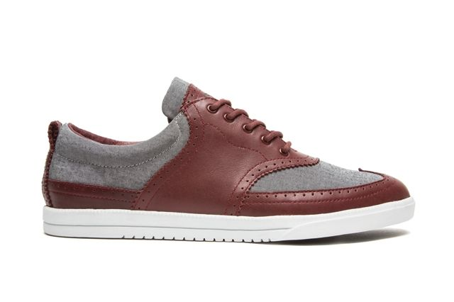 Clae Powell Oxblood Leather Gravel Chambray 1
