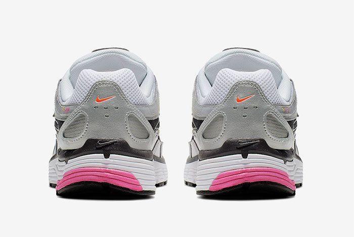 Nike P 6000 Metallic Silver Laser Fuchsia Heel Shot 1