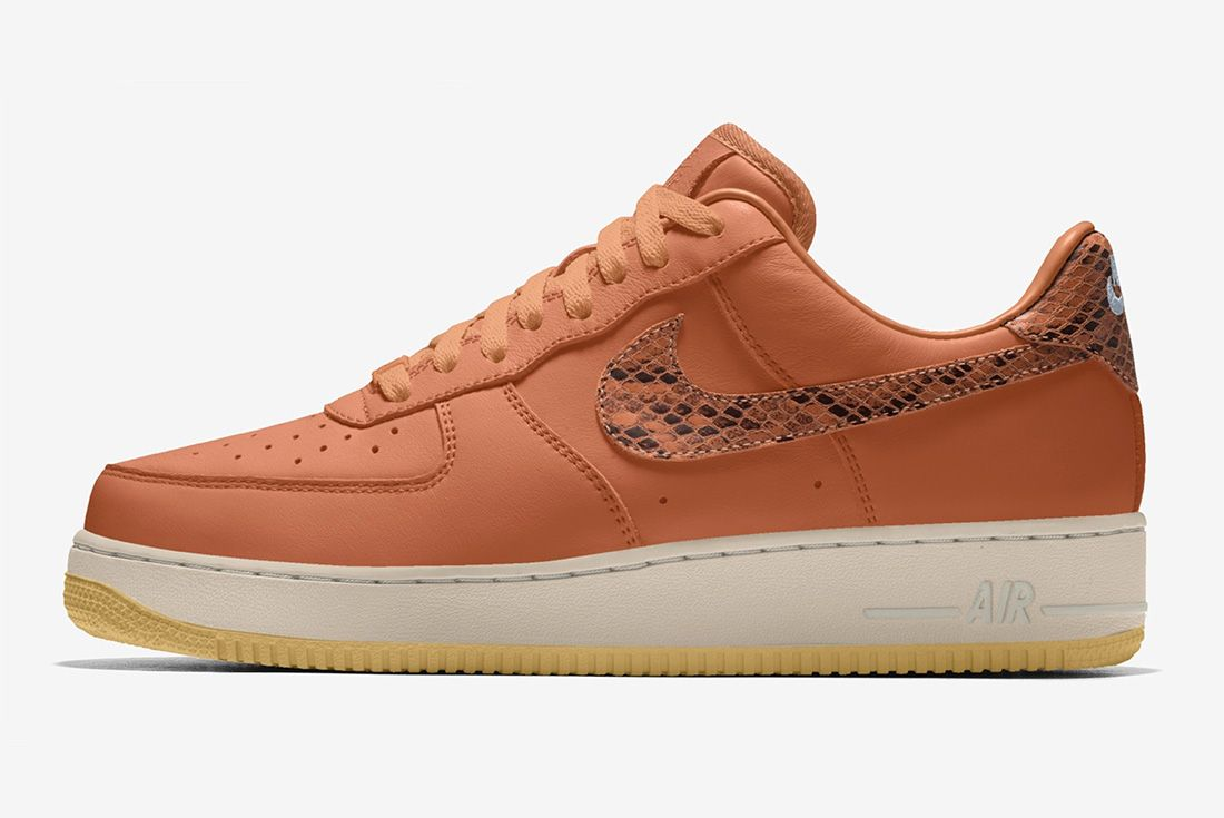nike by you air force 1 snakeskin