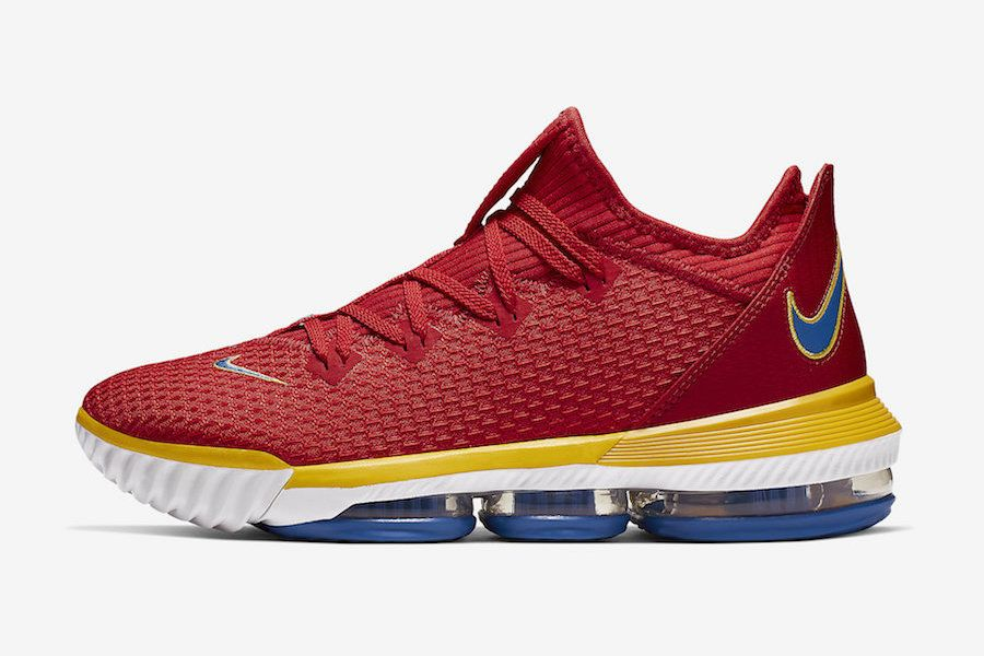 Nike Lebron 16 Low Superbron University Red Varsity Royal Ck2168 600 Release Date Lateral