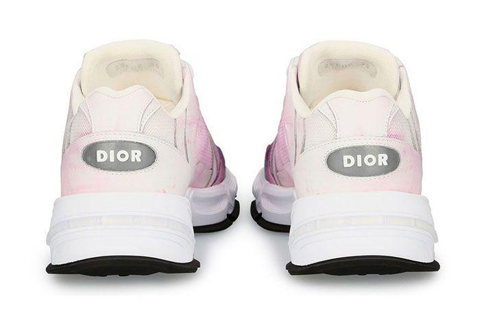 Dior Cd1 Tie Dye Print Sneakers Ss20 Heel Shot