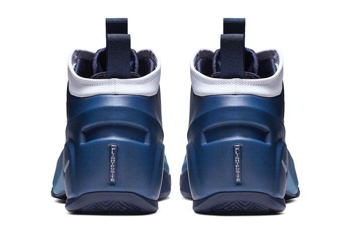 Nike Air Flightposite 2 Retro White Blue Heels