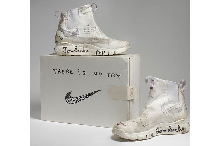 Tom Sachs Nike Mars Leaked White Pair With Box