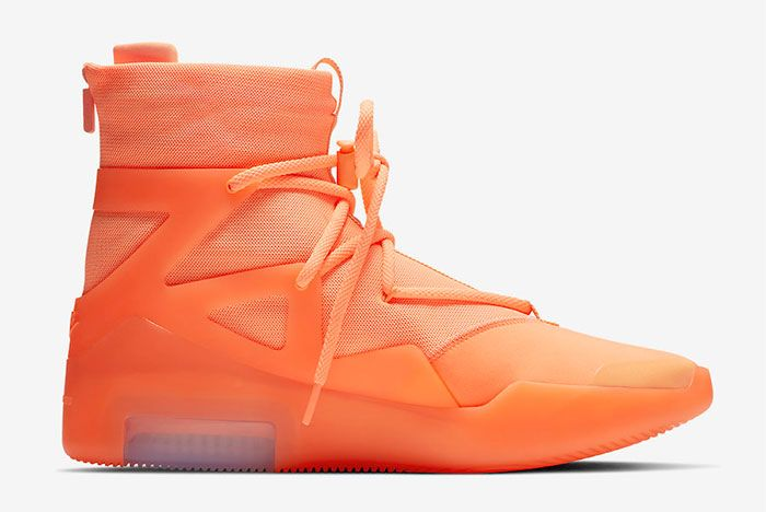 Nike Air Fear Of God 1 Orange Pulse Right