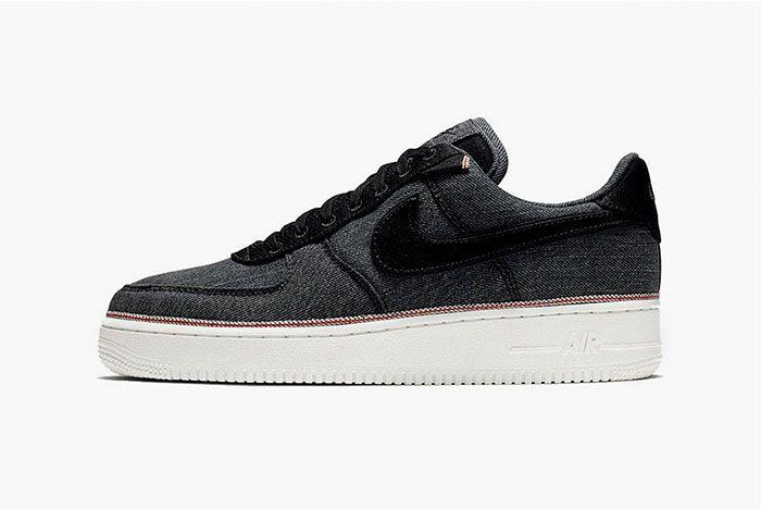 Nike 3 X 1 Air Force 1 Black Side