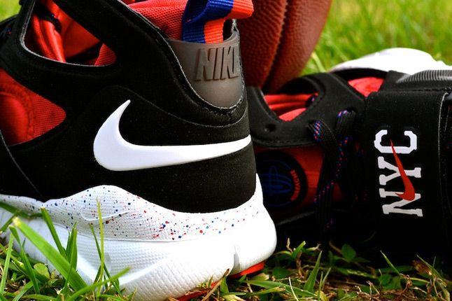 Nike Huarache Free Shield Nyc Giants Side Heel Details 1