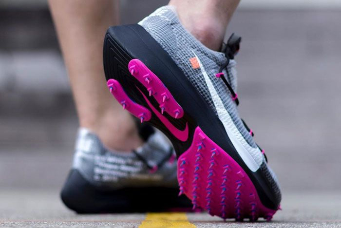 Off White Nike Vapor Street Grey On Foot Angle Shot