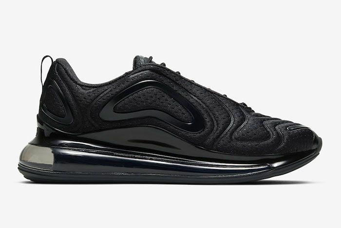 Nike Air Max 720 Black Mesh Right