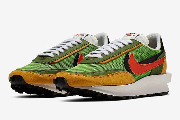 Sacai Nike Blazer Wafle Front Angle Shot 8