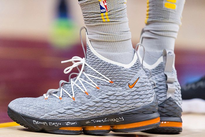 Nike Lebron 15 Team Orange 5