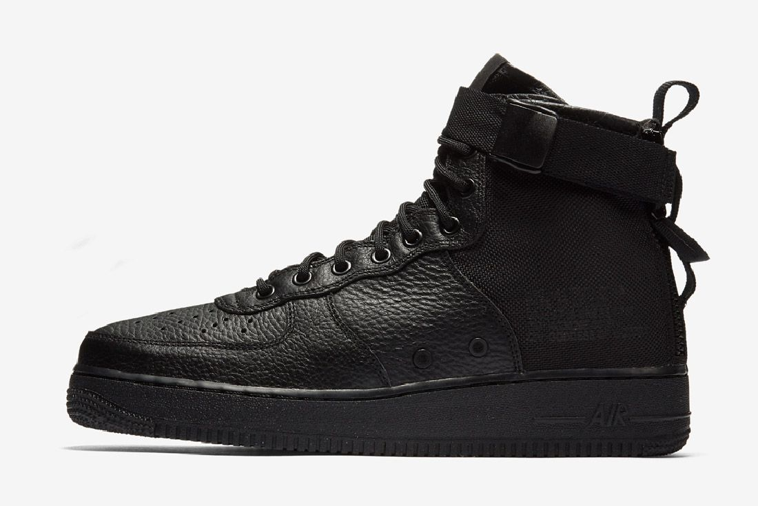 Nike Sf Air Force 1 Mid Black Sneaker Freaker 1