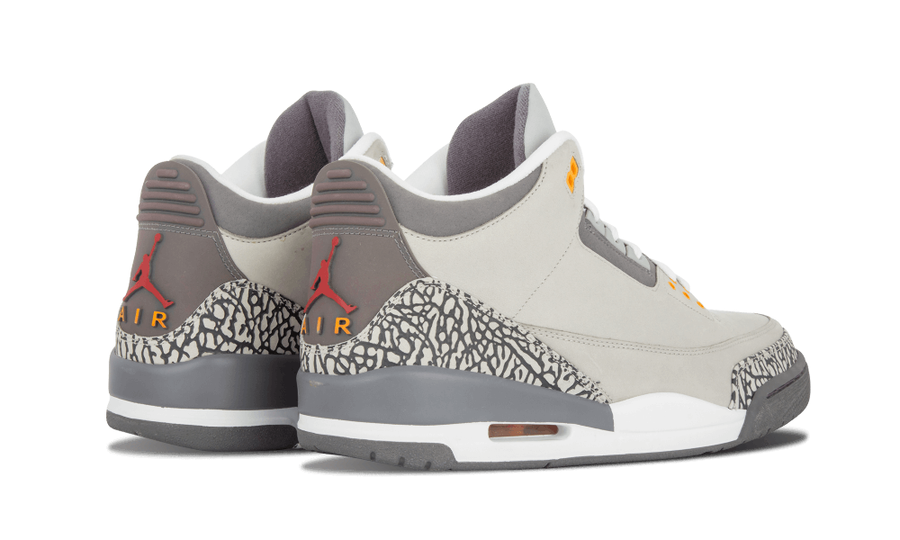 Air Jordan 3 Cool Grey Heel