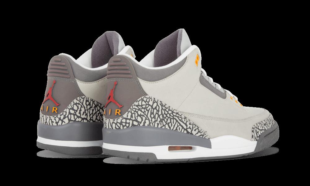 Air Jordan 3 Cool Grey Heel