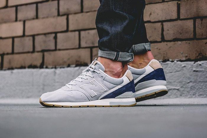 New Balance 996 Mrl996 Ta Grey Suede On Feet 2