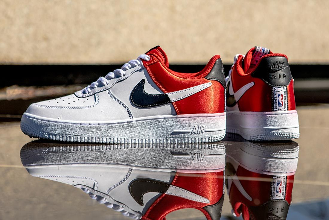 Nike Nba Air Force 1 Low Red Black White Left Side Shot