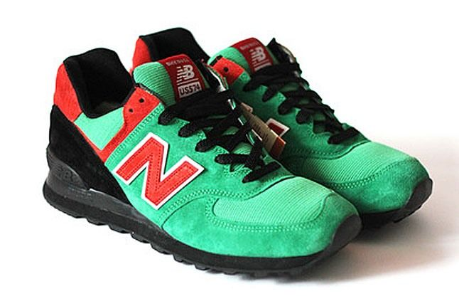 Red Green Black New Balance 1