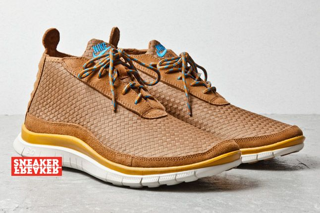 Nike Free Chukka Woven Ale Brown Blue Hero Sneaker Freaker