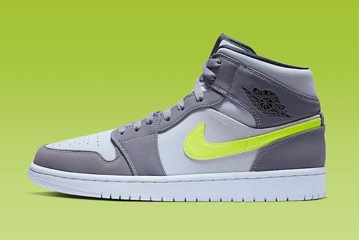 Neon Swooshes Light up the Air Jordan 1
