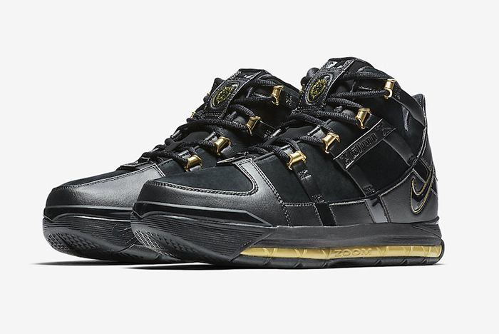 Nike Zoom Lebron 3 Black Gold 2018 Retro 1