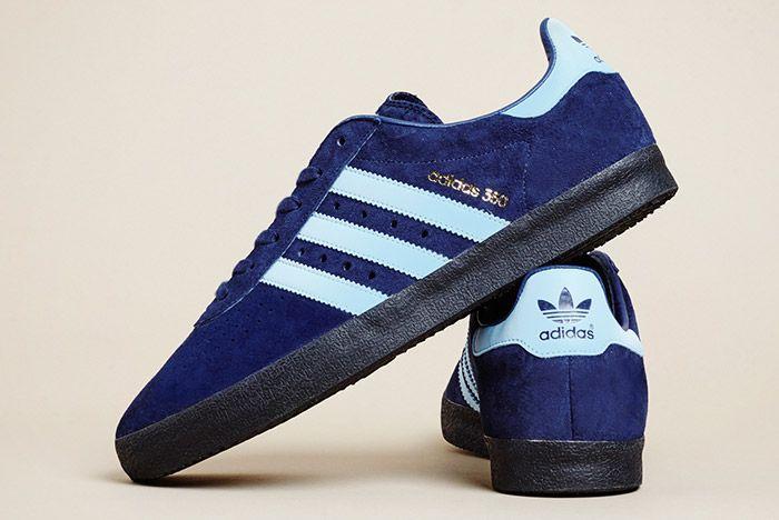 Size Exclusive Adidas 350 Suede Navy Black