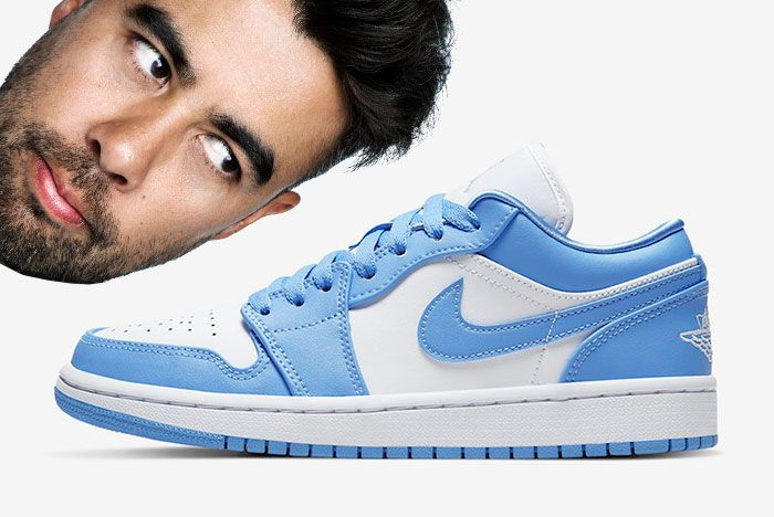 Air Jordan 1 Low Unc University Blue White Ao9944 441 Eric Koston Lateral