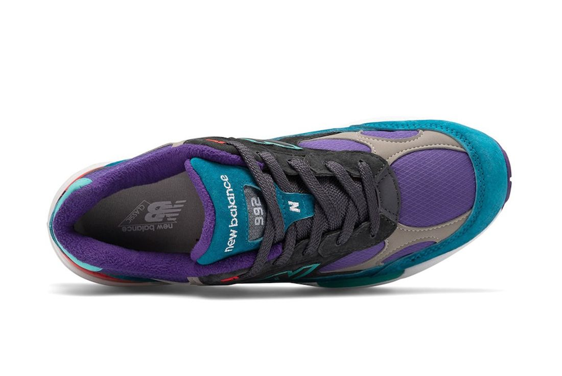 New Balance 992 Teal Purple Top