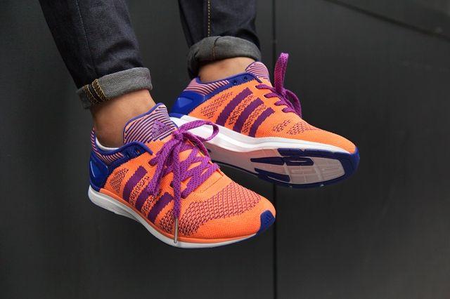 Adidas Primeknit Feather Womens Flash Orange 5