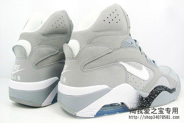 Nike Air Force 180 Grey Quater Heel Pair 2