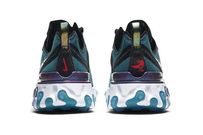 Nike React Element 55 Magpie Cn5797 011 Release Date Heel