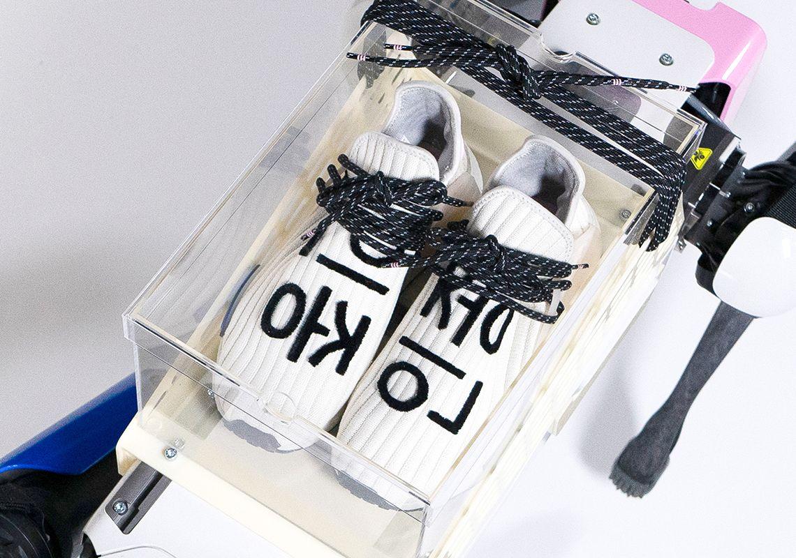 Pharrell x adidas NMD Hu Cream official shots