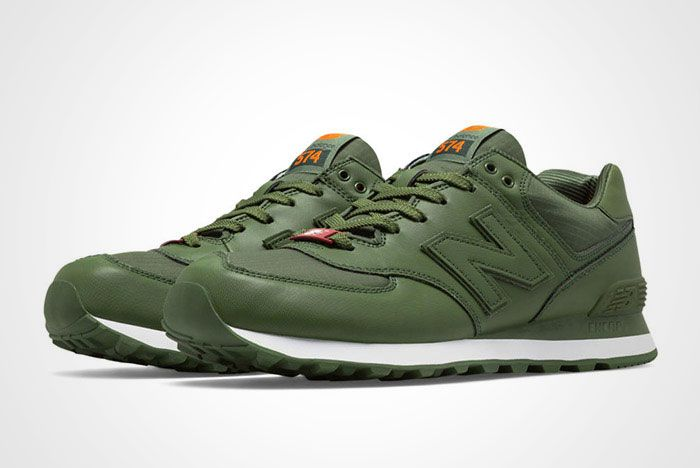 New Balance 574 Flight Jacket Green Thumb
