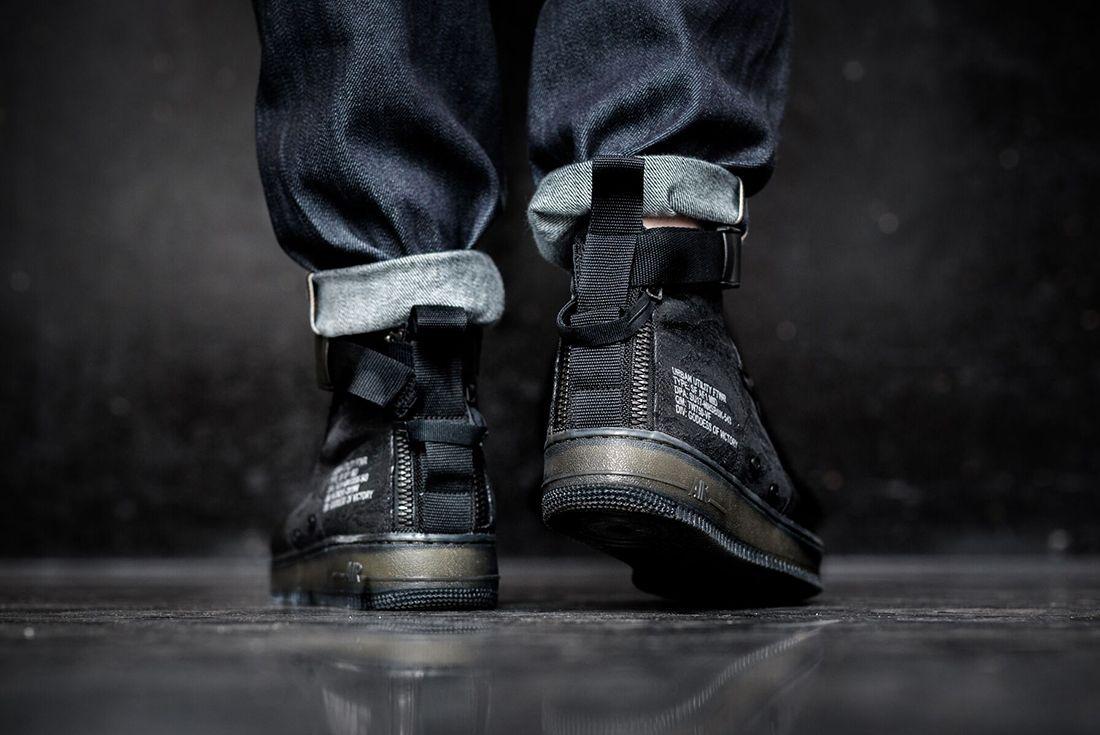 Nike Sf Air Force 1 Mid Black4 1