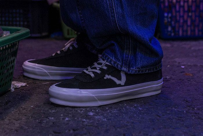 Blends Vans Vault Epoch Lx On Foot Three Quarter Angled Side Shot