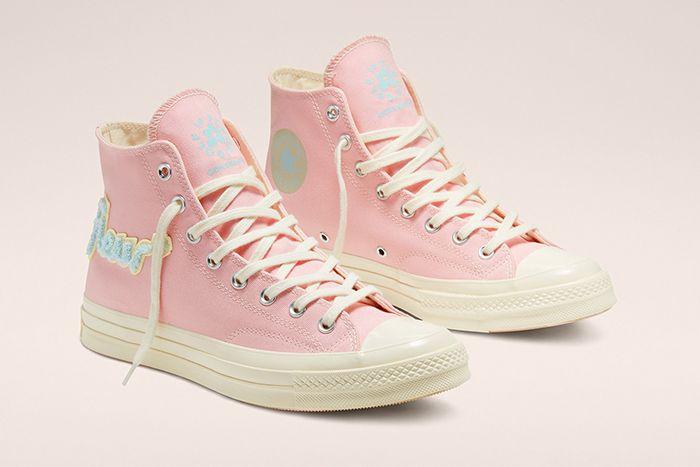 Golf Le Fleur Converse Chuck 70 Chenille Pink Release Date Pair