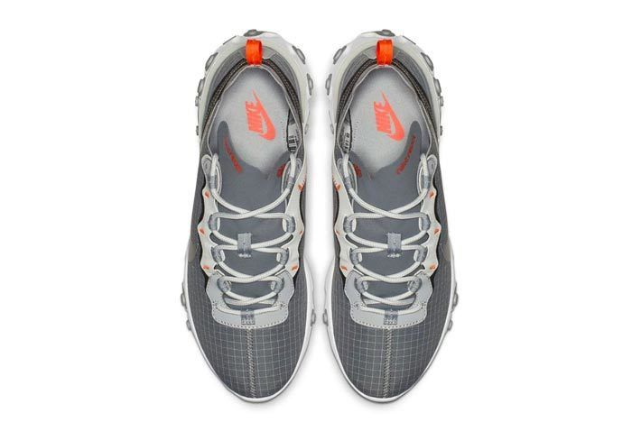 Nike React Element 55 Grey Orange Grid 4