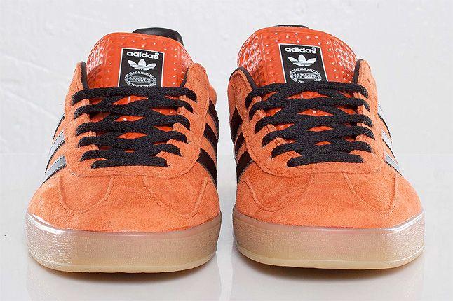 Orange Adidas Gazelle Indoor Front 1