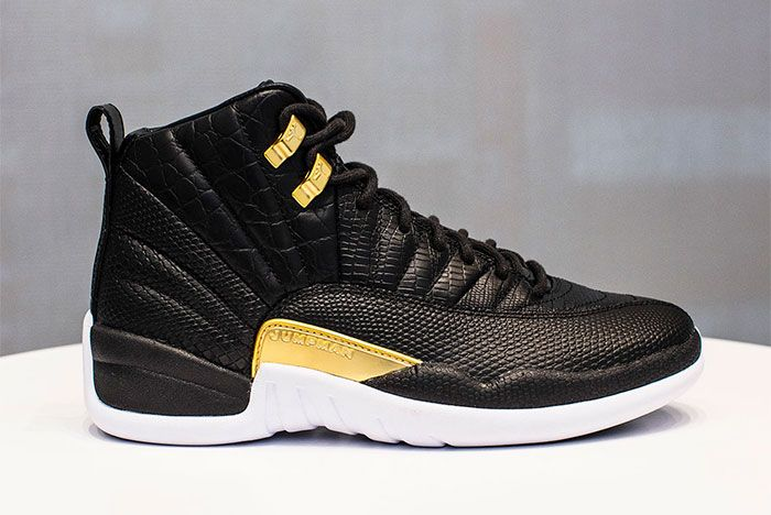 Air Jordan 12 White Black And Gold Release Date Side Shot 4