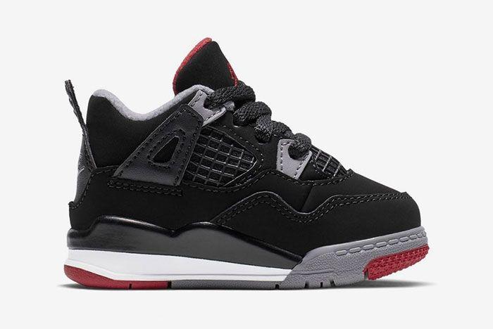 Air Jordan 4 Bred Toddler 2 Side