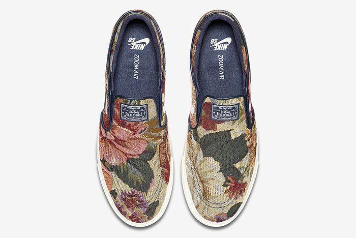 Nike Sb Janoski Slip On Floral 3