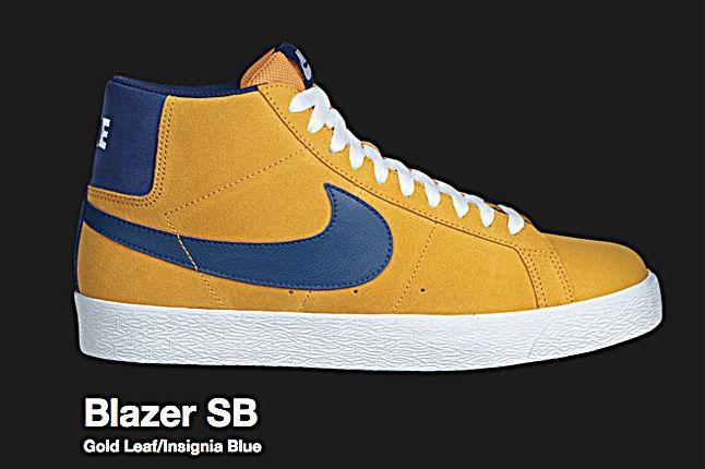 Nike Gold Leaf Blazer Sb 2010 1