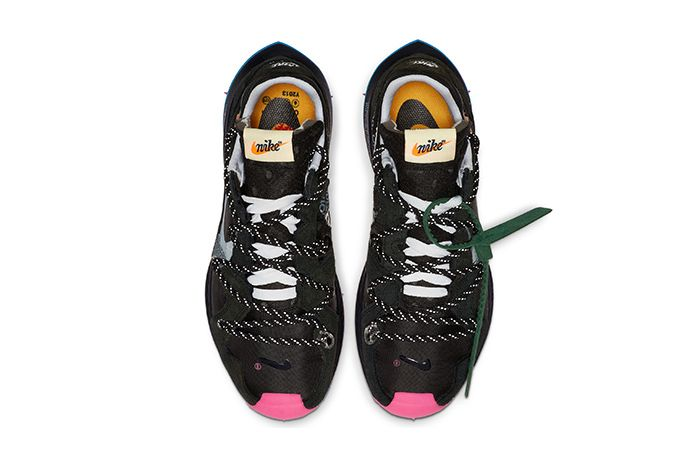 Off White Nike Zoom Terra Kiger 5 Black Pink Release Date Top Down