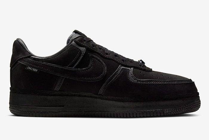 A Ma Maniere Nike Air Force 1 Black Hand Wash Cold Cq1087 002 Medial