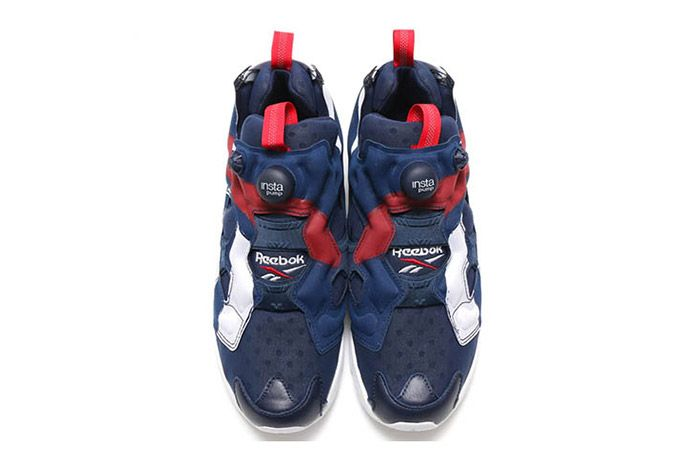 Reebok Insta Pump Fury Big Logo Red White Blue 4